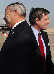US SECRETARY OF STATE POWELL ARRIVES IN BAGHDAD
