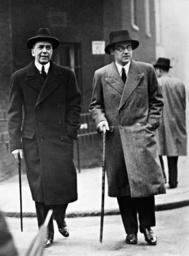 Leopold von Hoesch and Prince Otto von Bismarck in London, 1936