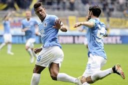 Bilder des Tages SPORT v li Rubin OKOTIE TSV 1860 Muenchen Torjubel nach Tor zum 1 0 mit Christo