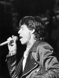 Mick Jagger, der Sänger der britischen Rockgruppe Rolling Stones am 06.06...