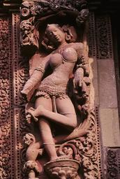 Bhubaneswar, Raja-Rani-Tempel, Apsara / Foto - -