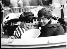 Singer Dave Clark In Car With Barbara Ferris On Set Of Film 'catch Us If You Can'.