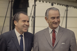 Watchf Associated Press Domestic News Dist. of Col United States APHS57022 RICHARD NIXON, PRESIDENT LYNDON JOHNSON - WHITE HOUSE