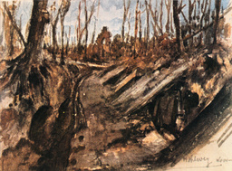 A.Hitler, Hohlweg bei Wytschaete - A. Hitler / Narrow Path Near Wytschaete - A. Hitler, Chemin près de Wytschaete