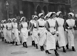 Nurses At Westminster Hospital Leave Westminster Abbey After Attending The Funeral Of Dr Ryle The Dean.