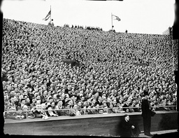 1938 F.a.cup Final Preston North End V Huddersfield Town (1-0) At Wembley. A Section Of The Vast Cup Final Crowd.
