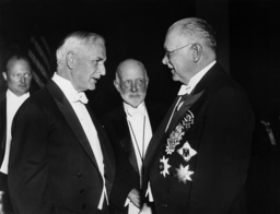 Cordell Hull, William Durand and Julius Doprmueller the World Power Conference in Washington, 1936