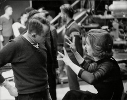 Ned Sherrin & Millicent Martin During A Rehearsal For Bbc Programme 'that Was The Week That Was'