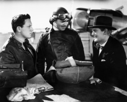 TEST PILOT, from left: Spencer Tracy, Clark Gable. Lionel Barrymore, 1938