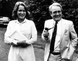 Johannes Rau and wife Christina 1982