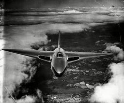 Avro Vulcan Bomber At The Farnborough Airshow.