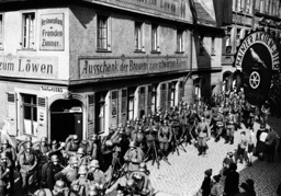 Entry of German soldiers into Mainz, 1936