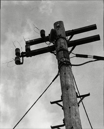 Law Crime Robbery 1963 'great Train Robbery' Telephone Poll Of Which The Robbers Cut The Phone Lines During Great Train Robbery Of The Post Office Coaches Of The Glasgow To London Royal Mail Train
