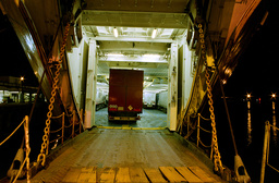 Back of a ship with truck