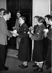 League of German Girls congratulate Adolf Hitler on his birthday, 1938