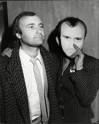Phil Collins Pop Star With His Wife Jill Tavelman Who Is Wearing A Phil Collins Mask 1985