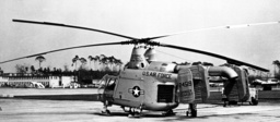 Jet helicopter HH 43 B of the US Air Force