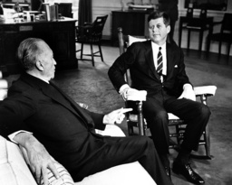 Chancellor Adenauer meets US president Kennedy