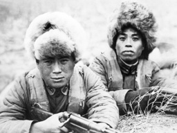 Chinese soldiers at Mukden in Manchuria, 1932