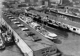 Ships at Pier No. 22 in San Francisco harbor, 1936