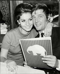 Roger Moore With Wife Luisa Mattioli (divorced March 2003).