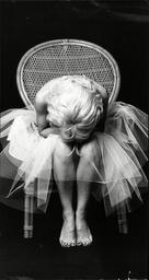 Actress Misty Rowe Dressed As Marilyn Monroe In Chair 1976.