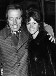 Singer Andy Williams And His Wife Claudine Arrive Home From Paris