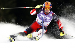 Croatia's Iviza Kostelic competes in the the men's slalom event at the Alpine Skiing World Cup in Alta Badia