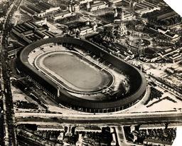 Aerial View Of White City Stadium London.