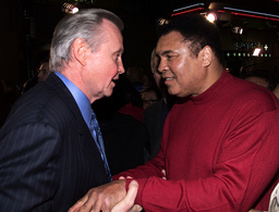 ACTOR JON VOIGHT AND AND MUHAMMAD ALI AT PREMIERE IN HOLLYWOOD