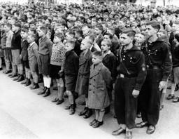 Acceptance of boys into the Deutsches Jungvolk, 1938