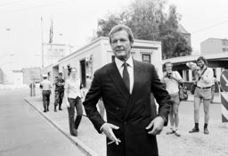 Roger Moore At Checkpoint Charlie 1982