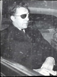 Richard Burton With A Patch Over His Injured Eye Actor Richard Burton Leaves The Dorchester Today For Elstree Film Studios. He Was Attacked By Teddy Boys Yesterday Outside Paddington Station...actors