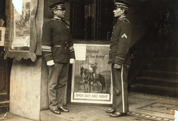 USA/Rekrutierungsstelle/ 1.Wk./Foto 1916 - USA,Recruiting Station, WWI /Photo/ 1916 -