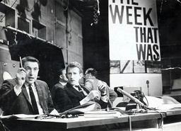 Sixties Satirical Television Show ''that Was The Week That Was''. Picture Shows David Frost And Lance Percival.