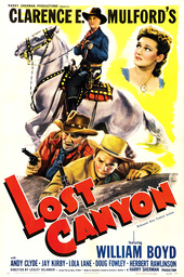 LOST CANYON, US poster art, top from left: William Boyd, Lola Lane, bottom from left: Andy Clyde, Ja