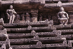 Konarak, Sonnentempel, Teilansicht des Daches / Foto - Konarak, Sun Temple, Roof w,Sculptures / Photo - Konarak, temple du Soleil, vue partielle du toit / Photo