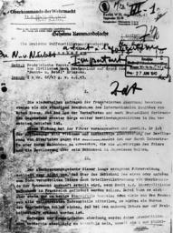 Schreiben zum N.&N.Erlaß 1943 - Nacht & Nebel Directive of 1942, Letter -