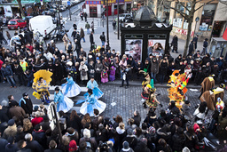 France. Paris (75). Parade in the street for Paris carnival