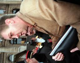 PRINCESS DIANA'S BODY GUARD TREVOR REES-JONES ARRIVES AT LAW COURT