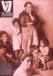Span.Bürgerkrieg / Volksillustr.30.6.37 - Basque family / Spanish Civil War / 1937 -