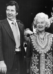 Singer Dame Gracie Fields (died 9/79) & Max Bygraves At The Royal Variety Show.