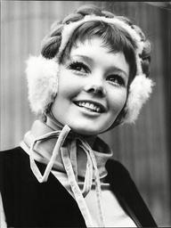 Model Ginny Westendarp Wearing Ear Muffs.