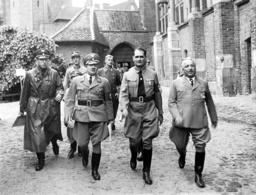 Erich Koch, Rudolf Hess and Robert Ley on the Marienburg, 1937