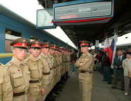 Last train with Russian soldiers