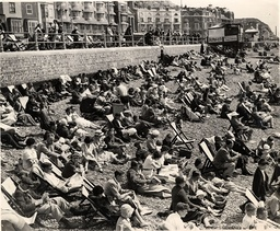 Hastings Sussex. Showing A Busy Beach Scene.