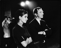 Choreographer John Cranko (right) With Set Signer Dorothea Tipiel During Rehearsals For New Ballet 'card Game' At Covent Garden