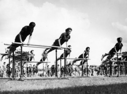 Geräteturnen am Barren / Foto, 1939. - Women on Parallel Bars / Photo / 1939 -