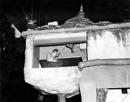 The Bath Room In A House Designed By Heath Robinson At The 1934 Daily Mail Ideal Home Exhibition At Olympia.