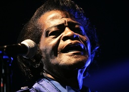 File photo of singer James Brown performing in Zagreb
